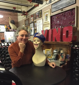 Vinomania's Gary Decker pictured with a friend