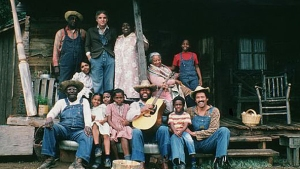 Steve Martin with his black family in The Jerk